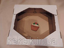Коробка без крышки малая 28*25*8,2 см кондитерский евро поддон на 1.5 кг.
