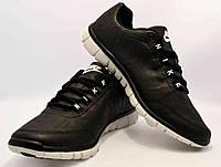Мужские кроссовки Nike черные Free 3.0 с белой подошвой N12