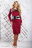 Модное женское платье 2334 марсала (50-56)
