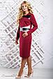 Модное женское платье 2334 марсала (50-56), фото 2