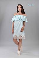 Летнее платье с воланом в полоску  Lato