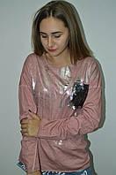 Женская кофта с паетками  Italy, фото 1