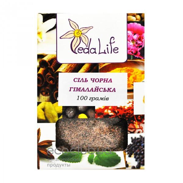 Соль черная гималайская Veda Life 100г