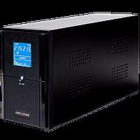 ИБП LPM-UL1100VA, USB-порт, LCD дисплей, 3 евророзетки, 3 ступ. AVR, 2x7.5Ач12В, металлический корпус, Черный цвет.