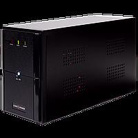 ИБП LPM-U1550VA, USB-порт, 3 евророзетки, 3 ступ. AVR, 2x9Ач12В, металлический корпус, Черный цвет.