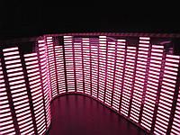 Эквалайзер на стекло заднее автомобиля, графический - Красный 90/25см