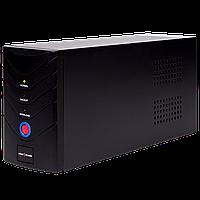 003. ИБП LogicPower 650VA, 2 евророзетки, 5 ступ. AVR, 7.5Ач12В, металлический корпус, Черный цвет.