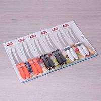 Набор ножей из нержавеющей стали с пластиковыми ручками 12 шт Kamille a5313