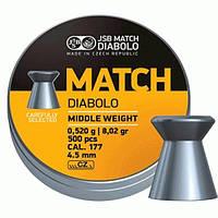 Пульки JSB MATCH DIABOLO для винтовки 4,51мм (0,52г) 500шт.