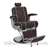 Кресло Парикмахерское Barber Valencia Lux коричневое