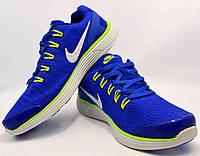 Мужские кроссовки Nikeсиние с салатовыми N16