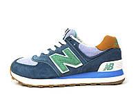 Серые женские подростковые спортивные кроссовки New Balance 574, фото 1