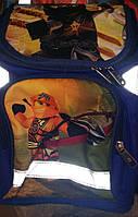 Каркасный ортопедический рюкзак для школьника младших классов c героями Ниндзяго