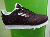 Женские кроссовки Reebok Classic Leather бордо