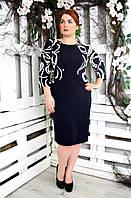 Платье большого размера Приора нежность, нарядное платье большого размера