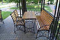 Комплект ковані садові меблі, фото 1