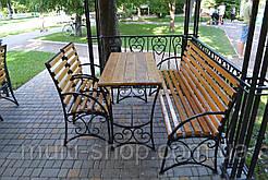Комплект кованая садовая мебель Лавочка садовая