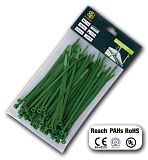 Стяжки кабельні пластикові багаторазові Green 4,8*200 мм