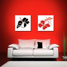 """Мультипанно """"Черный. Красный. Цветок"""""""