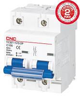 Модульный автоматический выключатель YCB1-125, 2Р, 63А, D, 6kА, CNC