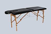 Стол массажный деревянный 2-х сегментный RELAX. Черный