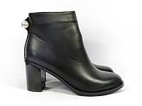 Женские классические ботиночки на устойчивом каблуке, фото 1