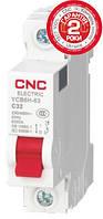Модульный автоматический выключатель YCB6Н-63, 1Р, 16А, С, 4,5kА, CNC