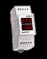 DigiTOP Амперметр-вольтметр AVM-1М однофазный (внешний ТТ) DIN