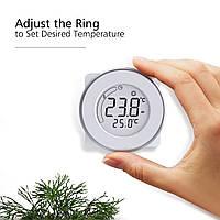 Качественный терморегулятор для теплого пола, 16А программа на неделю программируемый круглый