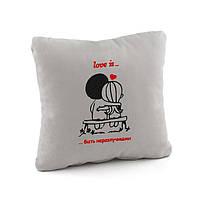 Подушки любимым «Любовь это быть неразлучными» флок