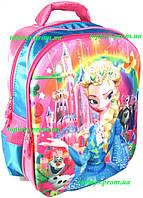 Рюкзак с 3D рисунком для Девочки школьный Эльза, Холодное сердце (Elsa, Frozen). Объёмное изображение
