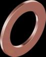 DIN7603A Кольцо уплотнительное медное 6 D10 s1,0 Cu