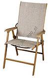 Комплект DALLAS. 4 крісла (скл.) + стіл з отвором для зонта, фото 2