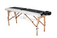 Стол массажный деревянный 2-х сегментный RELAX. Черно-белый