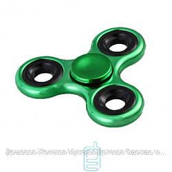 Спиннер, Fidget Spinner хромированный зеленый