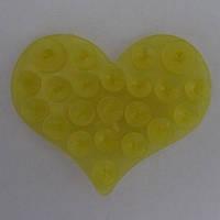 Полочка липучка Сердце желтое