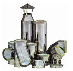 Комплектуючі елементи до димохідних систем ( утепленних) з нержавіючої сталі AISI 304, т. 0,5.0,8.