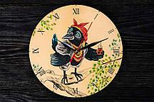 Настенные часы ручной работы ворона