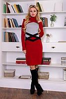 Модное платье Катерина вишня - светло-серый