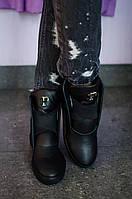 Женские стильные кожаные осенние ботинки