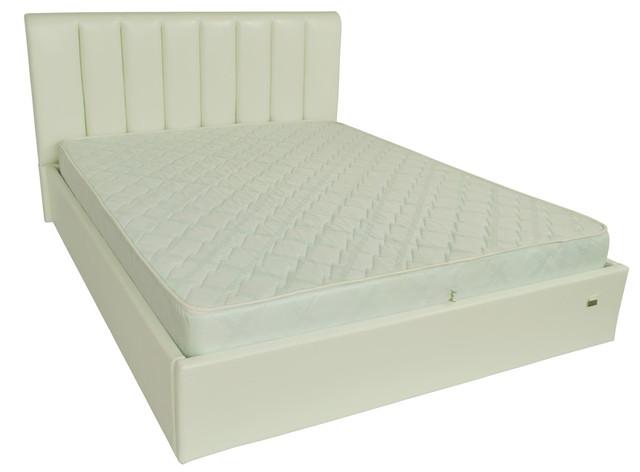 Кровать двуспальная Санам кожзам Лаки белый
