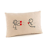 Подушка для влюбленных «Магнит» флок