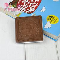 """Зеркальце с расческой """"Шоколадное печенье"""" квадратное молочный шоколад"""