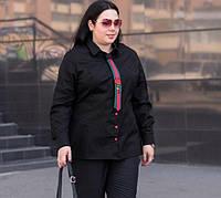 Рубашка с галстуком для пышных женщин, с 48-74 размер, фото 1