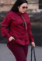 Рубашка с галстуком бордовая, с 48-74 размер, фото 1