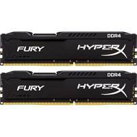 Модуль памяти для компьютера DDR4 8GB (2x4GB) 2666 MHz Fury Black Kingston (HX426C15FBK2/8)