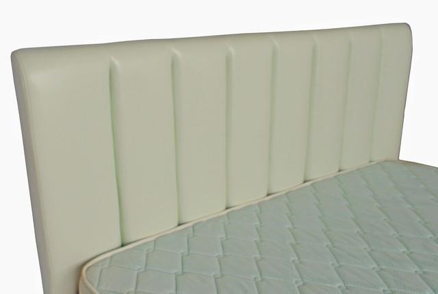 Кровать двуспальная Санам кожзам Лаки белый (фото 4)