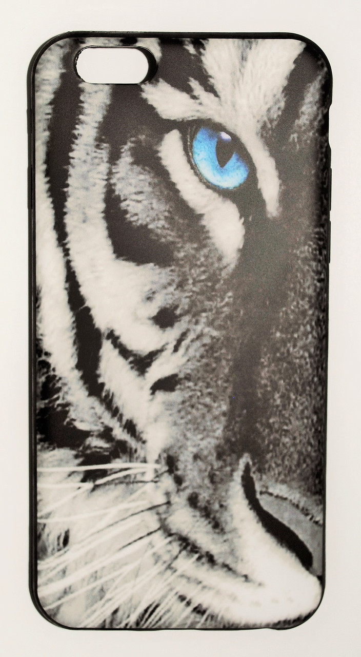Чехол на Айфон 6/6s ТПУ New Design белый Тигр