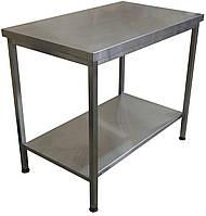 Стол без борта с полкой из нержавеющей стали (1500х600х850)