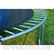 Батут FunFit 183 см с сеткой и лестницей, фото 3